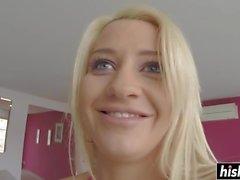 Блондинка Сиенна день ехал толстый член