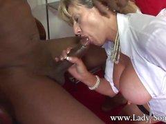 Black cuckold fucks hard Milf Lady Sonia