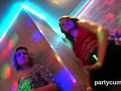 Foxy teens get fully fierce and nude at hardcore party