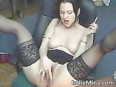 Brunette gostosona fumar part6