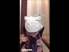 young girl funny dildo