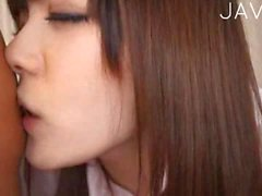 Jap teen in uniform gets laid