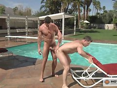 Trenton Ducati pounds Brenden Cages eager ass by the pool