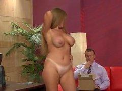 Redhead MILF office sex