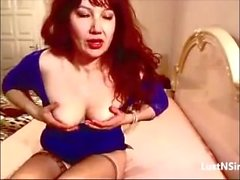 Hot Gilf Masturbates and Fucks With High Heals