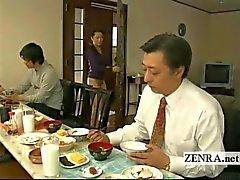 Legendado bizarro japonês casa sem calcinha sem fundo