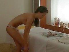 skinny brunette hard fuck masseur