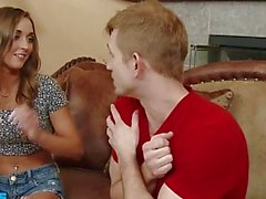 Cute Marry Lynn takes her friend's bro's big dick deep - Naughty America