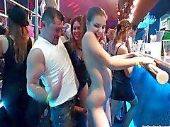 Seksikkäitä lesbot tanssii klubi