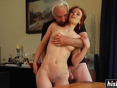Scarlet fucked two older dudes raw