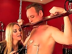 Sadistic british mistress in painful iceplay