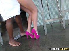 Aaliyahs Kärlek knullar en stor svart kuk