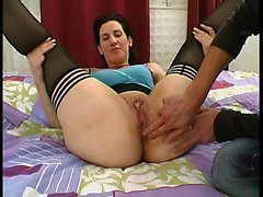 Marie analfucked in stockings