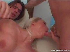 Nicki Hunter enjoys DP action