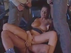 Italian Classic - hot wife gangbanged on the street