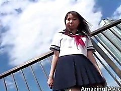 Japanese schoolgirl upskirt in public part6