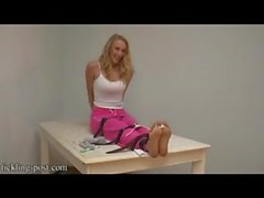 Tickling Blonde Socks and Bare Feet
