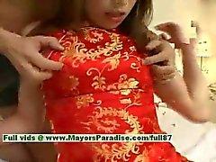 Ayane onschuldige Chinees meisje geniet een harde kern neuken