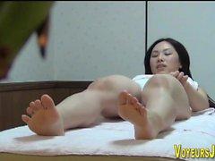 Asian masseuse fingering