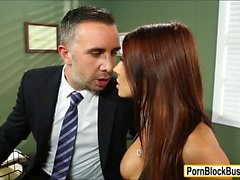 Madison Ivy meet up with agent in office