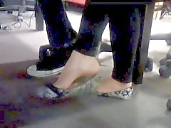 Sexy Asian Thai candid foot dangling