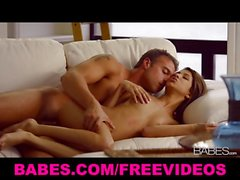 Fit teen model Veronica Rodriguez makes love to her man