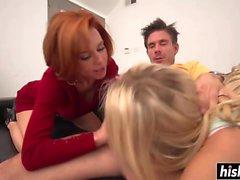 Veronica und Zoe teilen sich einen Pecker