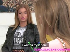 FemaleAgent Fit redhead likes her hair pulled