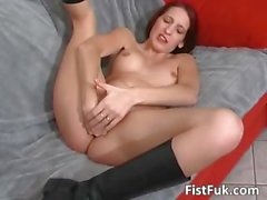 Some red head slut enjoys in hard pussy part4