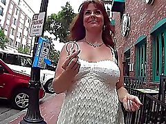 Ex cheerleader flashes in public