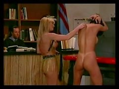 Anna Malle and two hot SADOMASOCHISM strumpets by the bar