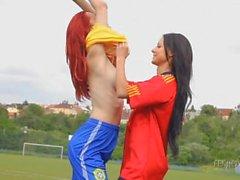 A melisa y a Ariel : Chicas de del fútbol de