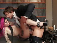 Latex secretary 03 - Naked, Fucked, Tattoos