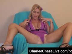 Bit Tit Tampa MILF Charlee Chase Purple Dildo Pussy Play