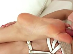 Hot Lesbian Sleep Feet Worship