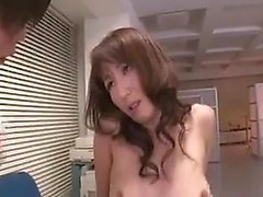 Secretary is fingered by her boss and then gives him a blow