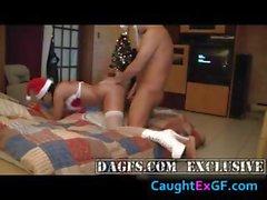 French girl in a Santa lingerie bones part2