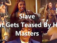 Slave, der von ihrem Masters neckte erhält