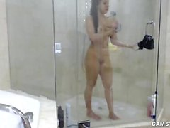 Abella Anderson Camgirl Bubble Bath, Shower and Blowjob LIVE
