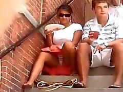 Sitting upskirt