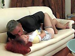 Redhead maid fucked