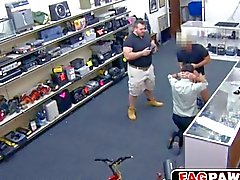 robber becomes a fuck toy in a pawn shop