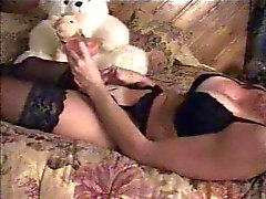 Great masturbation of milf on bed caught by hidden cam