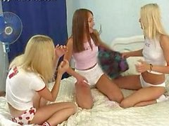 Audrie, Chloe And Bridget In Pillow Talk