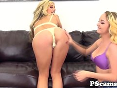 Pussylicking Iris Rose on lesbian webcam show