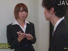 Hottie wearing office uniform