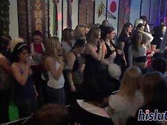 Rough nightclub orgy starring luscious bimbos