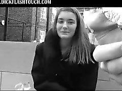 Великобритания Девчонки Staring и трогательные FLASHING DICKS !