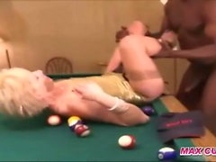maxcuckold Wild Blonde Hard Fucked On Pool Table