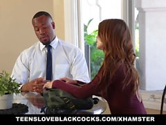 TeensLoveBlackCocks - Petite Secretary Stuffed by BBC